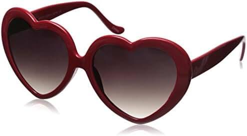 zeroUV - Large Oversized Womens Heart Shaped Sunglasses Cute Love Fashion Eyewear
