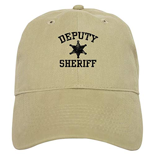 CafePress Deputy Sheriff Baseball Cap with Adjustable Closure, Unique Printed Baseball Hat Khaki