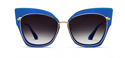 Sunglasses Dita STORMY 22033 C-BLU-GLD Electric Blue-18K Gold w/Dark Grey to Cle (Dita Herren Sonnenbrillen)
