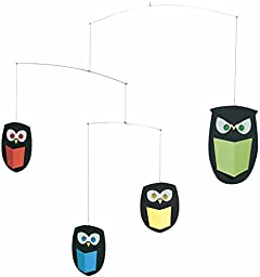Flensted Mobiles The Wisest Owls Hanging Mobile - 18 Inches Cardboard