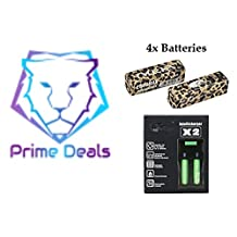 Prime Deals Bundle: 4 Authentic IMREN 2600MAH MAX50A/30A Batteries with IMREN x2 charger imren INR 18650 battery Intellicharger