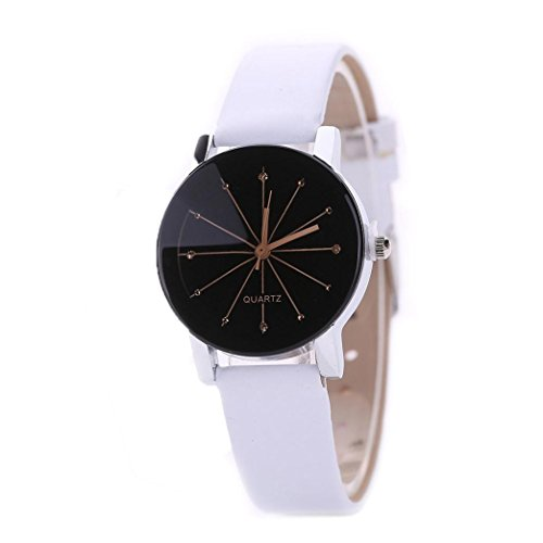 Gotd Small Solid Sport Digital Wrist Watch for Women Girl Boy Quartz Dial Clock Leather Band Strap Round Case Wholesale Luxury Fashion Gift Birthday (White) - Leather White Digital Player Case