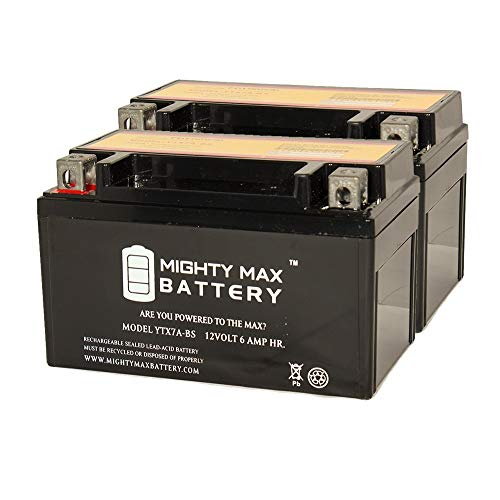 YTX7A-BS Battery for Kasea KS KU Models ATV for All Years - 2 Pack - Mighty Max Battery brand product ()
