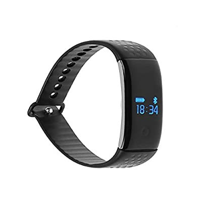 idealink K1 Bluetooth 4.0 Waterproof Sport Bracelet SmartWatch Heart Rate & Dynamic Blood Oxygen & Sleep Monitor Fitness Tracker Pedometer with OLED Display Android 4.3+, IOS 7.0+ Device