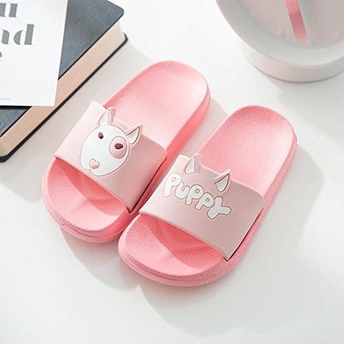 pantofole uomini indoor morbida fankou antiscivolo usura Pantofole e bagno carino le coppie 34 rosa base 22cm soggiorno home Baby raffreddare donne estate qxqTzwgpO