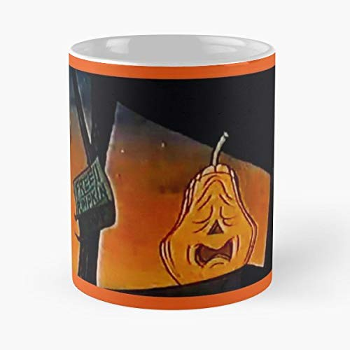 Pumpkins Halloween Vintage Television Hollywood - Morning Coffee Mug Ceramic Best Gift 11 Oz -
