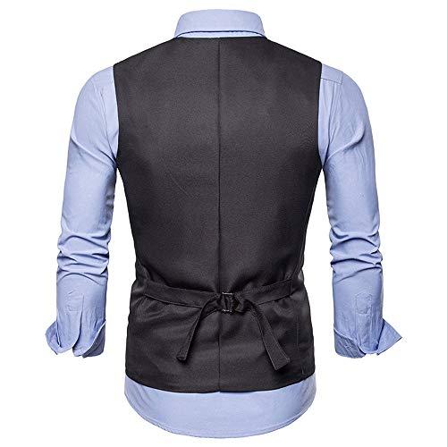 uomo Slim senza scuro Jacket Business Autunno Grigio Gilet da Top Top maniche inverno Chic Aimee7 wnC8xSpqE