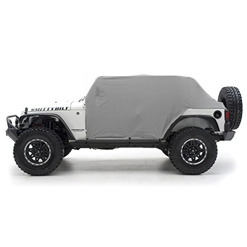 Smittybilt 1069 Gray Water-Resistant Cab Cover with Door Flap ()