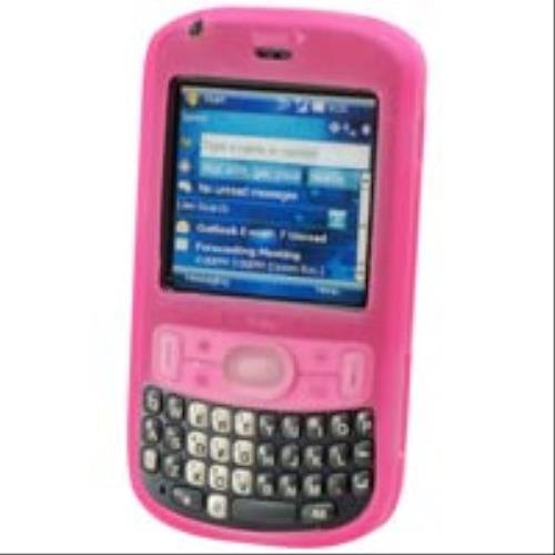 Premium Pink Silicone Cover Soft Rubber Gel Case for Palm Treo 800w [Retail Packaging]