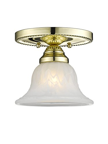 Livex Lighting 1530-02 Edgemont 1-Light Ceiling Mount, Polished Brass - Edgemont 2 Light