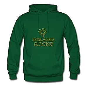 Cool Designed Green Women Ireland Rocks Off-the-record Hoody X-large