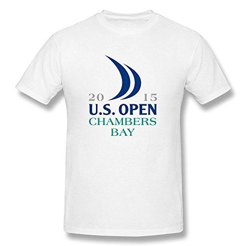 ZIYUAN Men's 2015 Us Open Logo Chambers Bay T-shirt XL White