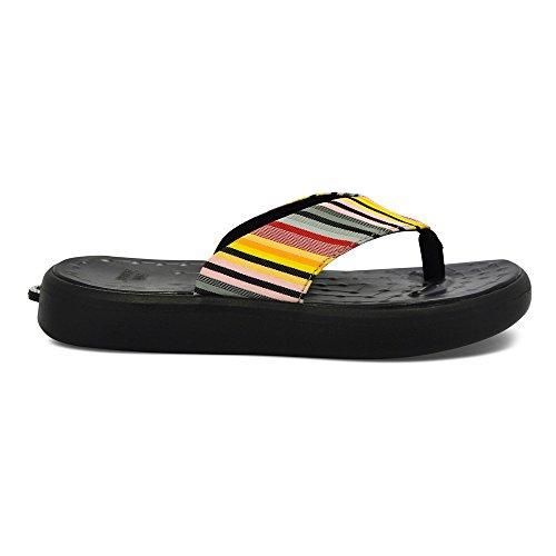 Softscience Unisex Skiff Labelstreep En Zwarte Flip Flops (uc0009lsb) Labelstreep / Zwart