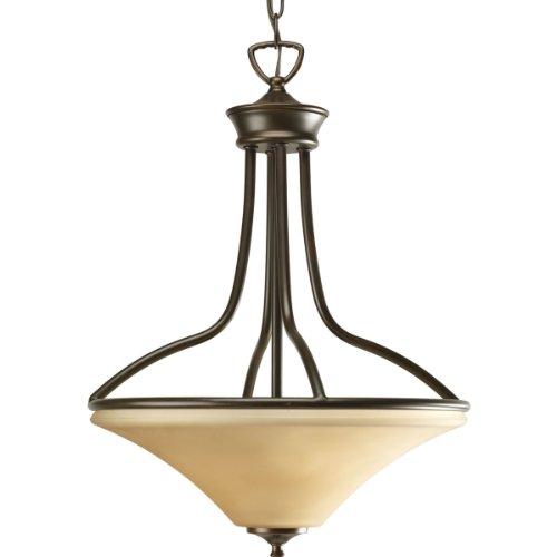 Amazon Com Progress Lighting P3701 09 1 Light Bay Court: Progress Lighting P3919-20 3-Light Foyer With Trumpet