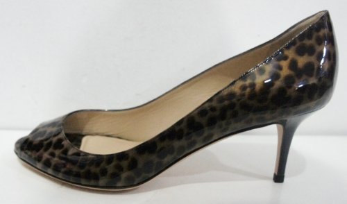 Jimmy Choo, Scarpe col tacco donna Marrone Brown Animal Print 40 (7 UK)