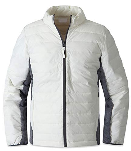 Padding Weight M030 Parka Outdoor Blazer EnvyLook Jacket Jumper Casual Mens Ivory Light Coat t6wfagq