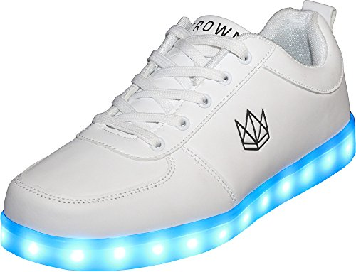 Pour Baskets 39 Crown Weiß Shoes Homme Blanc ABCCzwq