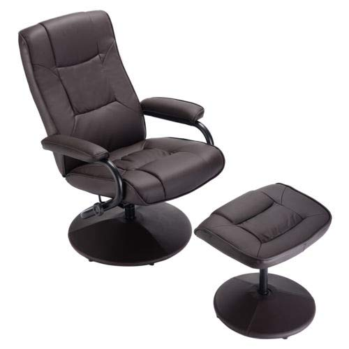 - Recliner Chair Swivel Armchair Lounge Seat w/Footrest Stool Ottoman Home with Ebook