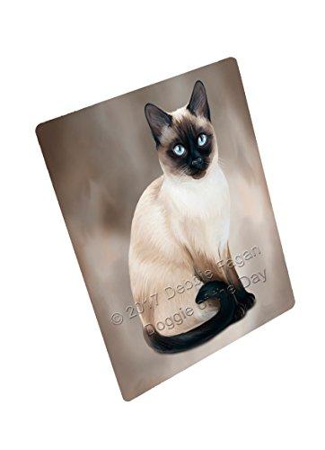 Thai Siamese Cat Art Portrait Print Woven Throw Sherpa Plush Fleece Blanket D061 (60x80 Fleece) by Doggie of the Day