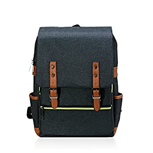 Youv Casual School BackPack Unisex Lightweight College Laptop Bag for Hiking and Travel
