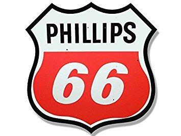 GHaynes Distributing Magnet Vintage Phillips 66 Gas Station Logo Shaped Magnet(Motorcycle car Gasoline) 4 x 4 inch