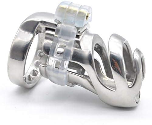 Pllxq 67ミリメートル医療メタル3Dデザインメンズステンレススチール製の貞操ケージロングCb6000アンチオナニー玩具プライバシー・コンビニ (Size : 52mm)