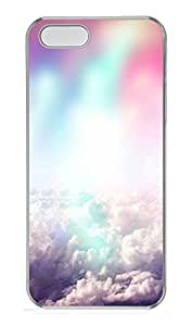 iPhone 5s Case, iPhone 5s Cases - Colorful clouds Custom Design iPhone 5s Case Cover - Polycarbonate¨CTransparent