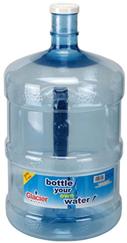 Glacier Water Bottle, 3 gallon, Blue (3 Gallon Plastic Water Bottle)
