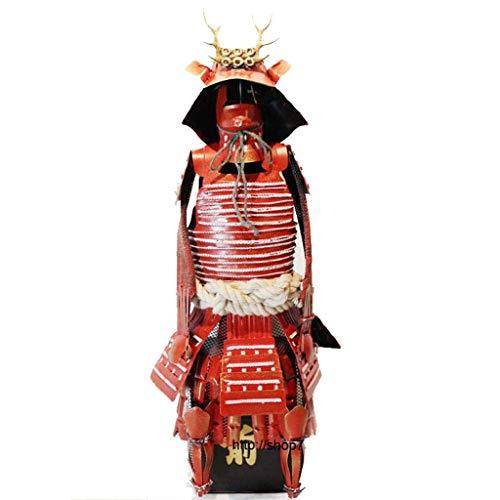 Japanese Warrior Small Armor Model, hyperthyroidism Collectible Antique Figure Decoration Cafe Desktop Arrangement Iron Art Decoration Used for bar Cafe Home Decor-Antique