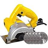 Stanley , Serra Mármore 1.200W com 5 Discos, Amarelo/Preto, 115mm