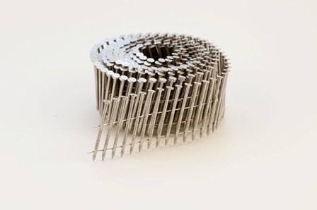NailPro 2-3/16 Inch by 0.093 - 15 Degree Wire Coil - Stainless Steel - Ring Shank Siding Nail 3600 pc. / CTN