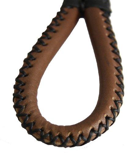Jasmine Handmade Loop Brown Leather Key Chain