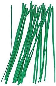 Bond Manufacturing Laços Gro Twist Miracle, 20 cm, verde (pacote com 100)