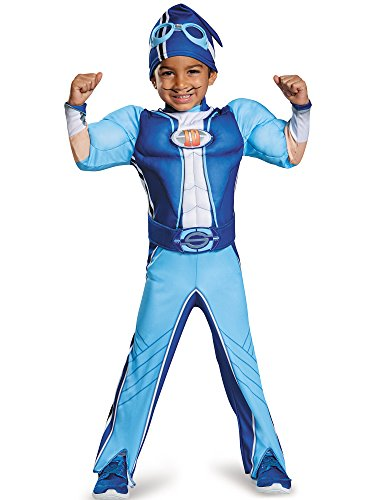 Sportacus Toddler Muscle Lazy Town Cartoon Network Costume, One Color, Medium/3T-4T]()