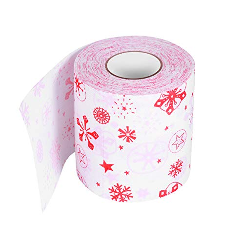 VORCOOL Printed Toilet Paper Roll Creative Tissue Party Gift Merry Christmas Roll Paper for Wedding Party Home Decoration