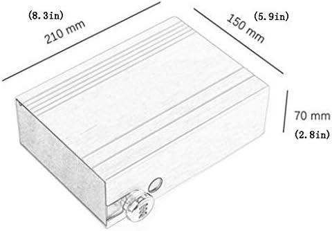 パーツボックス 金庫ホーム見えないベッドサイドミニ収納ボックス小パスワードアイアンボックス盗難防止カー金庫オフィス金庫ジュエリー化粧品 (Color : A, Size : 21*15*7cm)