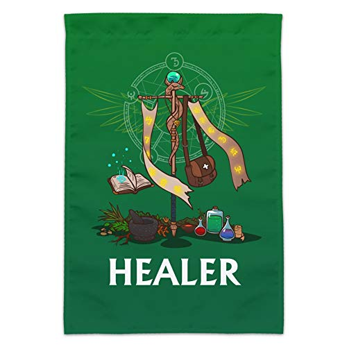 Graphics and More Healer Cleric RPG MMORPG Class Role Playing Game Garden Yard Flag (Pole Not Included)