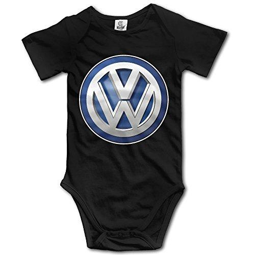 MNSTK Baby's Bodysuit Romper Jumpsuit Volkswagen Logo Black