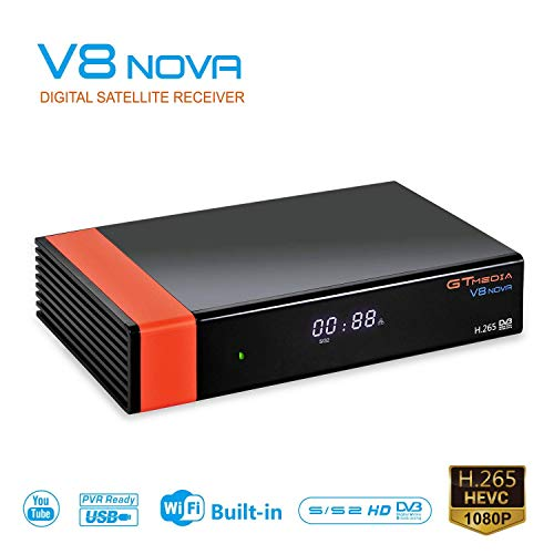 GT MEDIA V8 NOVA DVB-S2 HD 1080P TV Satellite Receiver Free to Air Sat Decoder Digital FTA Receptor Built-in WiFi Support CCCAM IPTV YouTube PVR Ready PowerVu Biss Key Newcam
