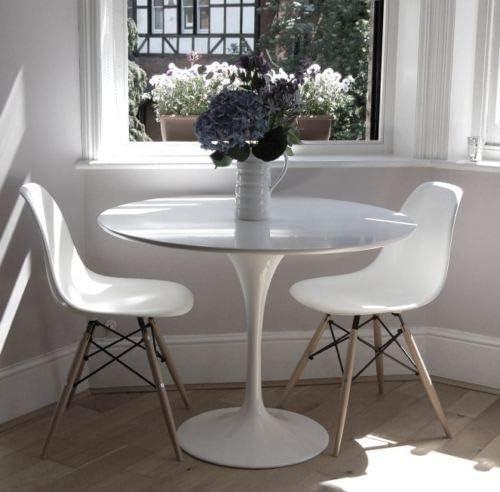 ElleDesign - Mesa Eero Saarinen Tulip redonda lacada en blanco ...
