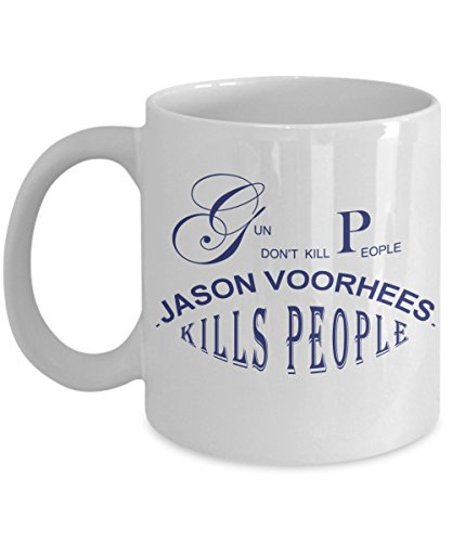 Halloween Coffee Mug - Jason halloween - Gifts ideas for adults, women, kids in party eve with jokes and cupcakes - White Ceramic 11 Oz Mugs]()