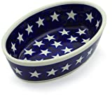 Polish Pottery 6-inch Condiment Dish (America The Beautiful Theme) + Certificate of Authenticity