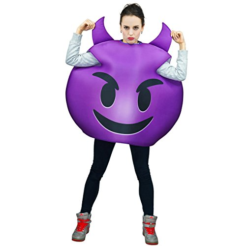 Purple Devil Costumes (flatwhite Adult Unisex Emoticon Costumes One Size)