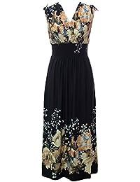 Poly Span Summer Prints Maxi Dress