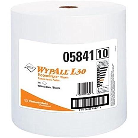 12.4 W x 13.3 L Jumbo Roll Kimberly-Clark 05841 White WYPALL L30 Wipers