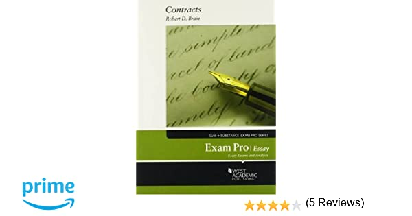 Exam pro on contracts essay exam pro series robert brain exam pro on contracts essay exam pro series robert brain 9780314286048 amazon books fandeluxe Image collections
