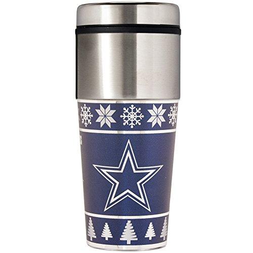 Nfl Dallas Cowboys Travel Mug (NFL Dallas Cowboys Ugly Sweater Travel Tumbler, Blue, One Size/16 oz)