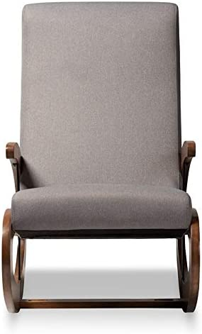 Baxton Studio Kaira Fabric and Wood Rocking Chair