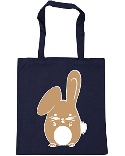 French Navy 10 x38cm rabbit Bag Beach Tote Bunny HippoWarehouse Shopping Gym Beige litres 42cm Tqna7xBZAw