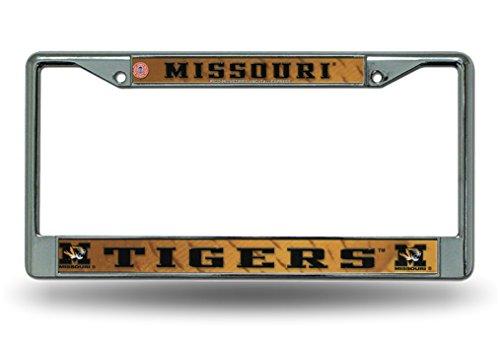 Missouri Mizzou Tigers Chrome Metal License Plate Frame